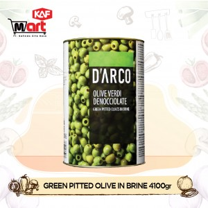 D'arco Pitted Green Olives In Brine 4100g