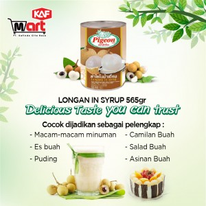 Pigeon Longan In Syrup 565g