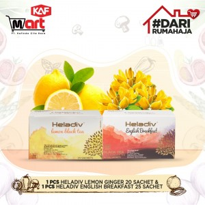 1pcs Heladiv Lemon Ginger 20sachet & 1pcs Heladiv English Breakfast 25sachet
