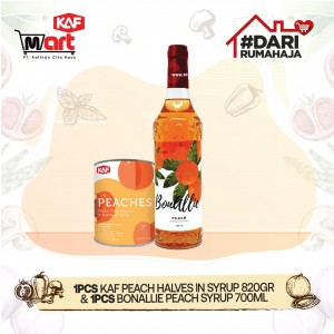 KAF Peach Halves In Syrup & Bonallie Peach Syrup Bundle Pack