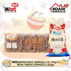 1 pcs Brown Rice Vermicelli 50g & 1 pcs Bean Thread Vermicelli 500 g