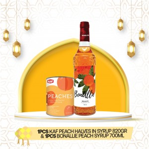KAF Peach Halves In Syrup & Bonallie Peach Syrup Bundle Pack
